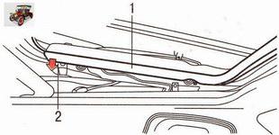 Крепление облицовки сдвижного люка панели крыши Опель Астра Н