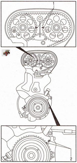 Установка поршня 1-го цилиндра двигателя мод. Z 18 XER в положение ВМТ такта сжатия Опель Астра Н