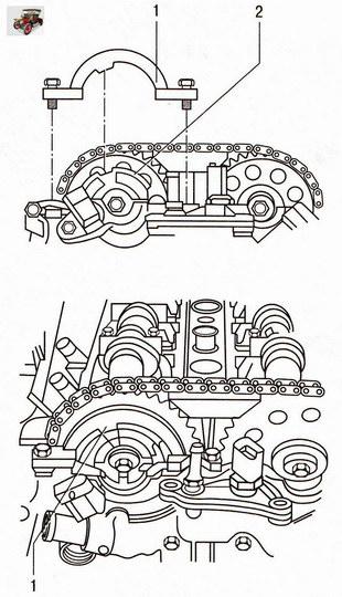 Установка приспособления мод. КМ-954 Опель Астра Н