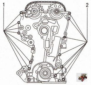 Крепление передней крышки двигателя Опель Астра Н
