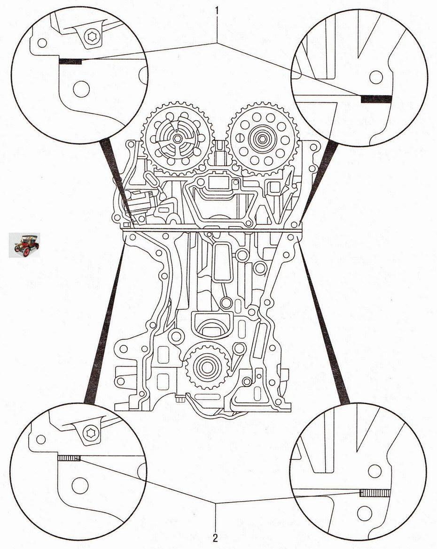 Уплотнения передней крышки двигателя Опель Астра Н