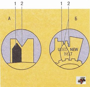 Указатель регулировочного узла натяжного ролика привода ГРМ двигателей Z 20 LER и Z 20 LEH на автомобиле Опель Астра Н