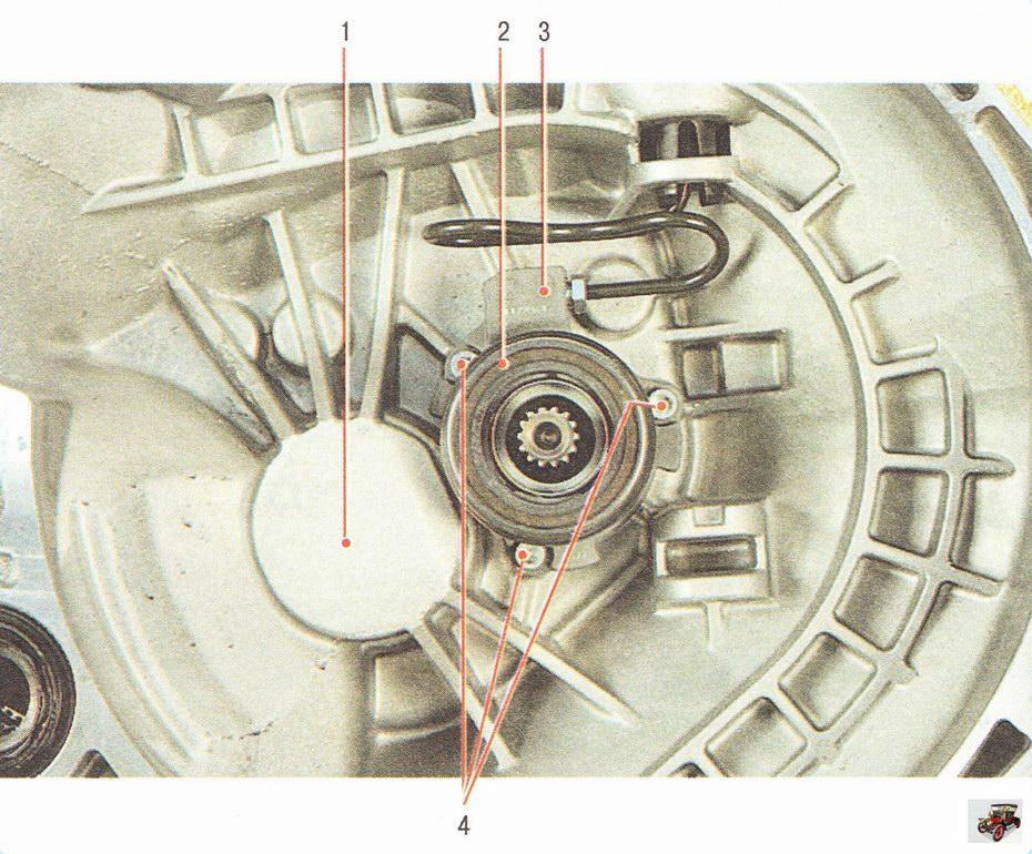 Подшипник выключения сцепления, объединенный с рабочим цилиндром привода выключения сцепления Опель Астра Н