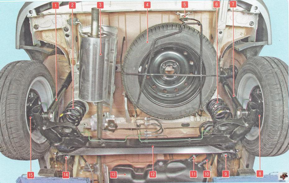 Подкапотное пространство автомобиля Лада Ларгус с двигателем 1,6 л Z16XER (вид сверху)