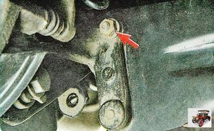 гайка крепления пальца сайлентблока (шарнира) стойки стабилизатора к поворотному кулаку