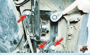 болт крепления кронштейна опоры продольного рычага задней подвески к кузову