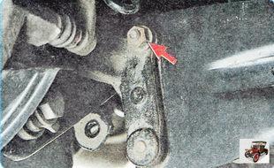 гайка крепления пальца верхнего сайлентблока (шарнира) стойки стабилизатора