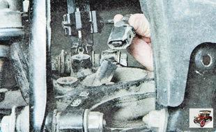колодка жгута проводов датчика частоты вращения заднего колеса