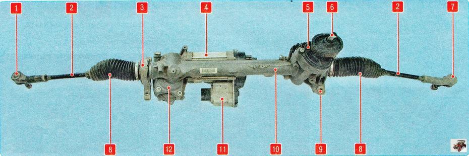 Рулевой механизм с электроусилителем руля Шкода Октавия А5 (Skoda Octavia A5)