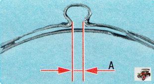 индикатор правильного «обжатия» хомута пыльника рулевой тяги