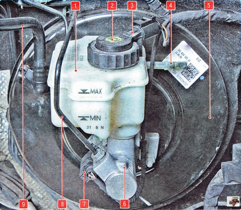 Главный тормозной цилиндр с вакуумным усилителем Шкода Октавия А5