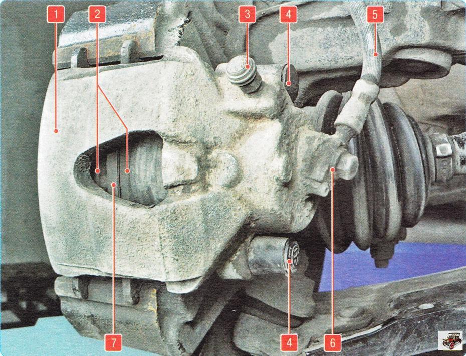 Тормозной механизм переднего колеса Шкода Октавия А5