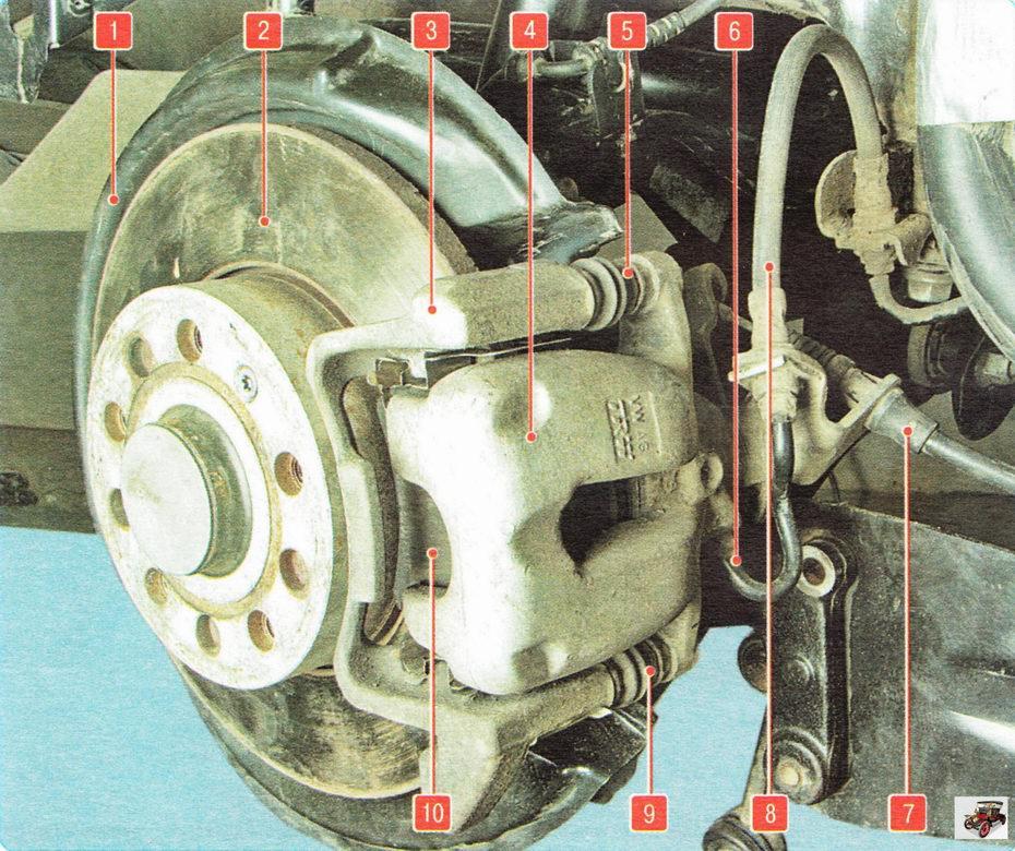 Тормозной механизм заднего колеса Шкода Октавия А5