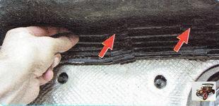 извлеките трубопровод тормозов из креплений