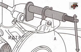 установите на тормозной суппорт специальное приспособление