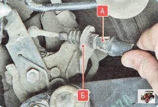 А - наконечник троса тормоза; Б - кронштейн тормозного механизма