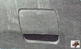 места под установку проушины в правой части заднего бампера