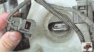 колодка проводов датчика уровня омывающей жидкости
