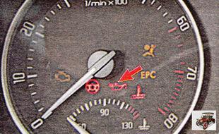 сигнал аварийного падения низкого давления масла в двигателе
