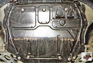 Загляните под переднюю часть автомобиля - не пробит ли масляный картер двигателя, нет ли там течи масла