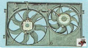 электровентиляторы охлаждения двигателя в сборе с кожухом