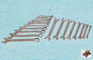 набор рожковых и накидных ключей