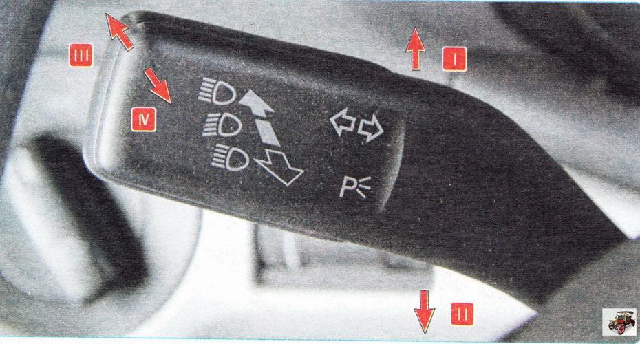 Рычаг переключателя наружного освещения и указателей поворота Шкода Октавия А5