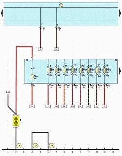 Схема аккумуляторной батареи Шкода Октавия А5