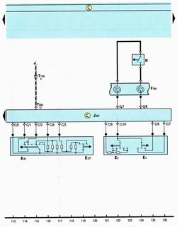 Схема блока управления электроникой рулевой колонки, указатели поворота, аварийная сигнализация, звуковой сигнал, круиз-контроль автомобиля Шкода Октавия А5