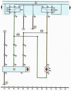 Схема реле насоса стеклоомывателей, моторедуктор стеклоочистителя двери задка автомобиля Шкода Октавия А5