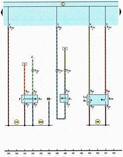 Схема выключателя стоп-сигнала, заднего хода, датчик положения педали тормоза автомобиля Шкода Октавия А5