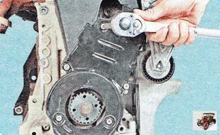 болты крепления нижней крышки ремня привода ГРМ