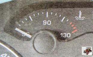 указатель температуры охлаждающей жидкости в системе охлаждения двигателя