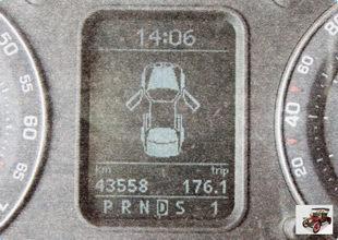 дисплей бортового компьютера Шкода Октавия А5