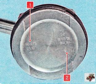 маркировка поршня Шкода Октавия А5