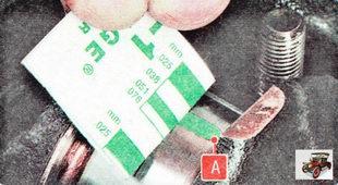 Отпечаток может остаться на шейке вала А