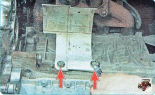 болты крепления термоэкрана привода передних колес