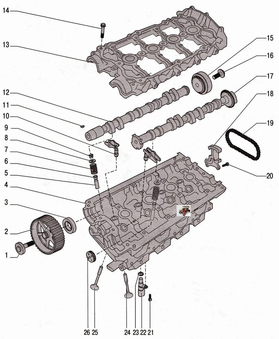 Детали клапанного механизма двигателя 2,0 л Шкода Октавия А5