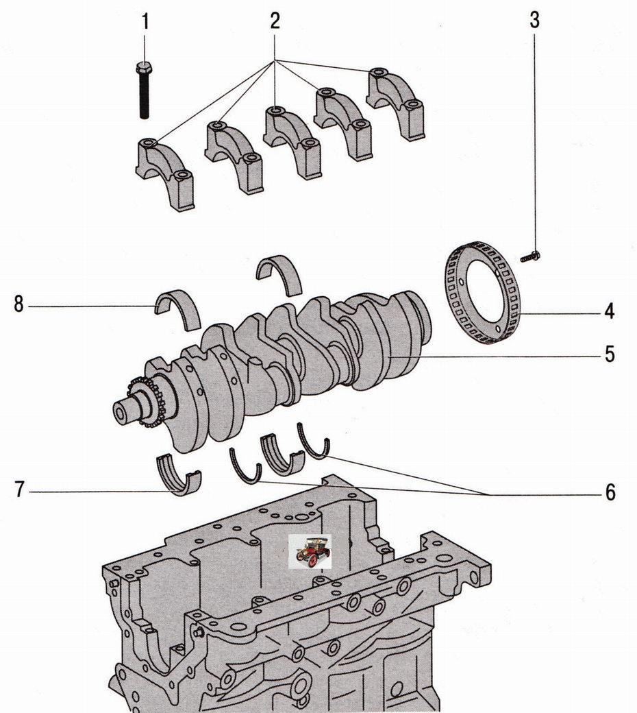 Коленчатый вал двигателя 2,0 л Шкода Октавия А5