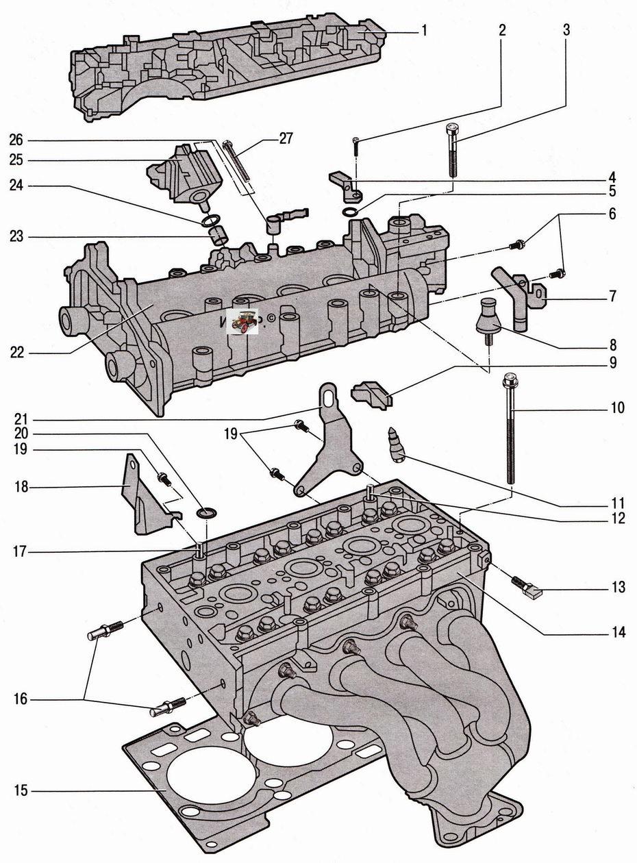 Головка блока цилиндров двигателя 1,4 л Шкода Октавия А5