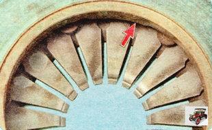 внешним осмотром оцените состояние опорных колец нажимной пружины с наружной и внутренней стороны пружины сцепления