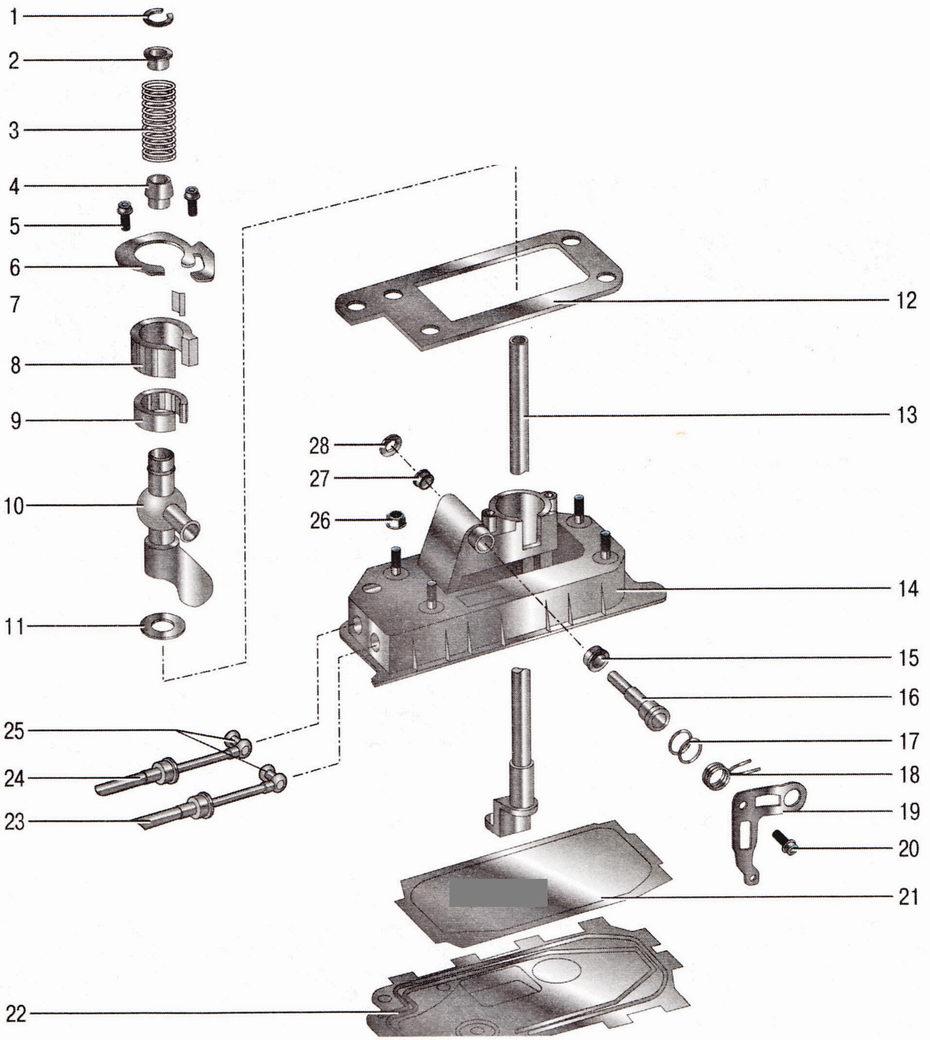 Рычаг переключения механической коробки передач Шкода Октавия А5