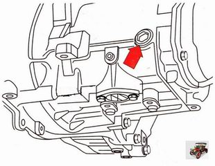 пробка в механической коробке передач для заливки и контроля уровня масла Шкода Октавия А5