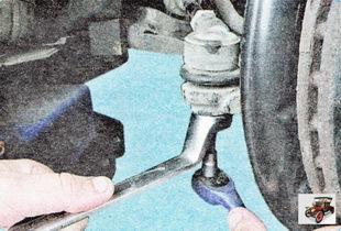 гайка крепления пальца шарнира рулевого наконечника