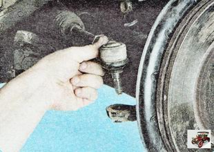 рулевой палец рычага поворотного кулака