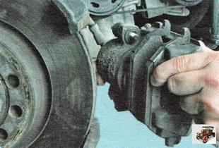 суппорт тормозного механизма Шкода Октавия А5 в сборе