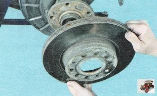 тормозной диск тормозного механизма переднего колеса