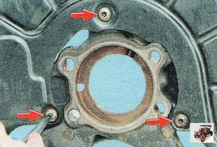 три винта крепления щита тормозного механизма переднего колеса
