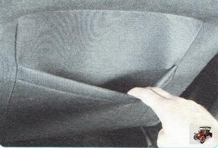 карман на задней стороне сидении водителя и переднего пассажира