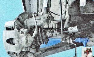 гайка крепления пальца нижнего шарнира стойки стабилизатора